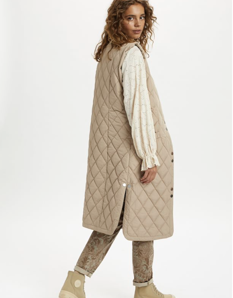 Cream Melika Quilted Vest