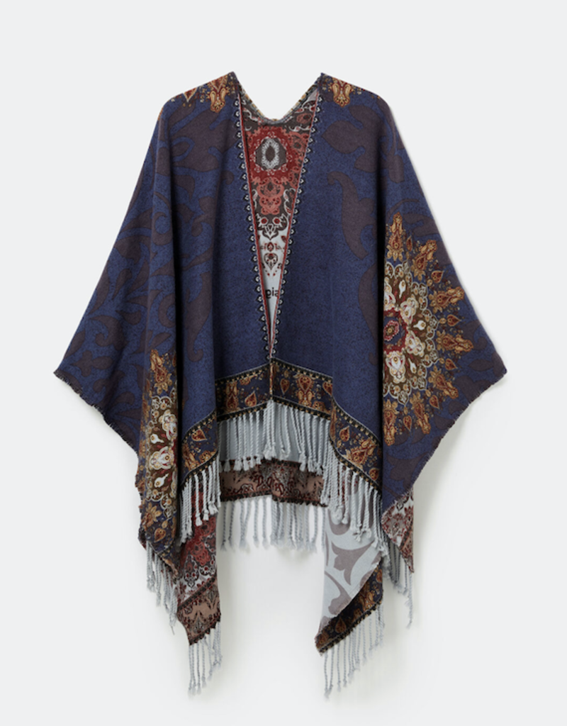 Desigual Tapestry Reversible Poncho
