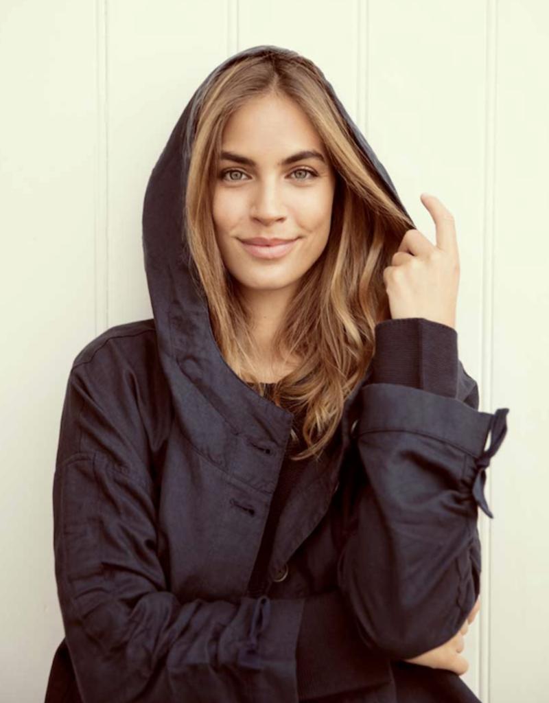 Nile Linen Mix Hooded Jacket