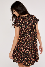 Apricot Ditsy Floral Dress
