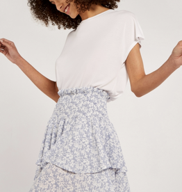 Apricot Layered Floral Skirt