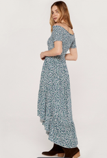 Apricot Smock Bardot Dress