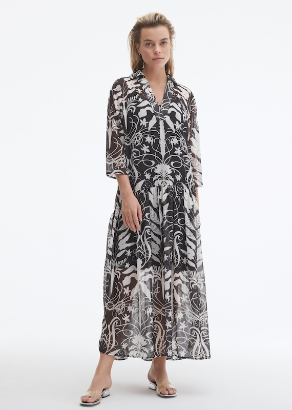 Uchuu Floral Print Long Dress