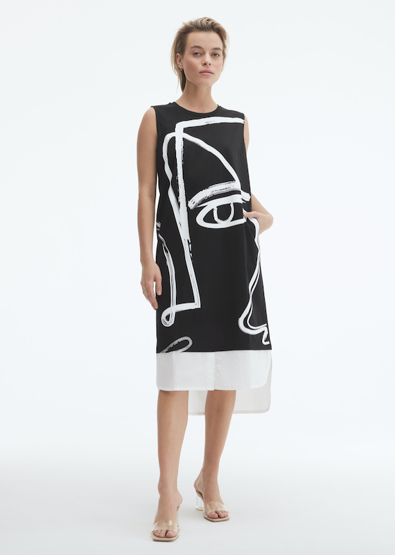 Uchuu Face Print Dress