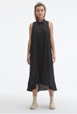 Uchuu Sleeveless Linen Shirt Dress