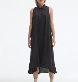 Uchuu Sleeveless Linen Shirt Dress