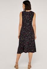 Apricot Ditsy Print Midi Dress