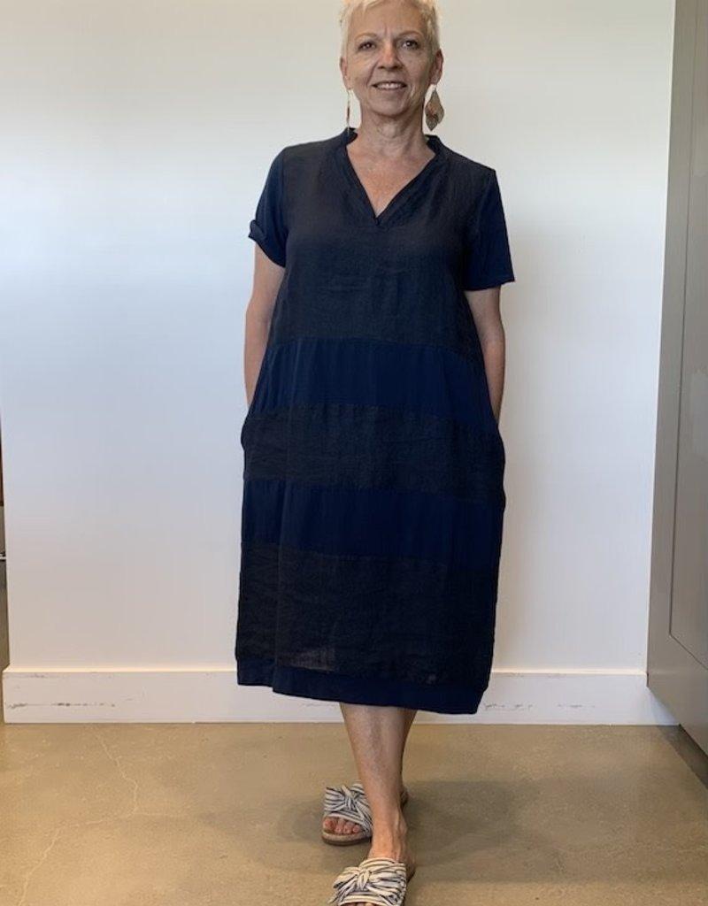 Peruzzi Linen Jersey Mix Dress