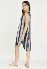 Apricot Batik Stripe Dress