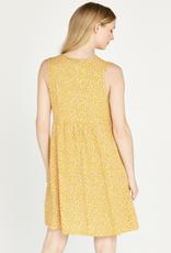 Apricot Ditsy 2 Pkt Bakery Dress
