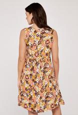 Apricot Retro Floral 2 Pkt Bakery Dress