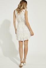 Gentle Fawn Pixel Ruffle Dress