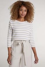 Oui Striped Boatneck Pullover