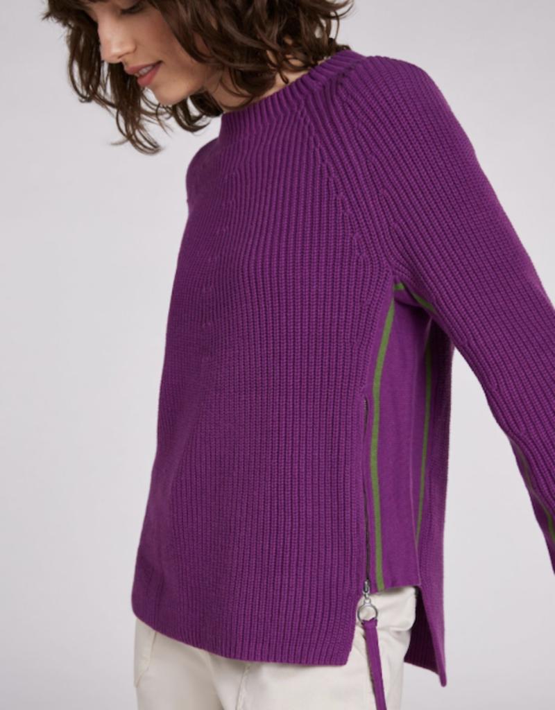 Oui Shaker Knit Sweater with Zips