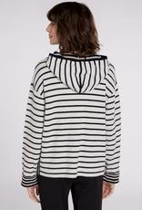 Oui Striped Knit Hoodie