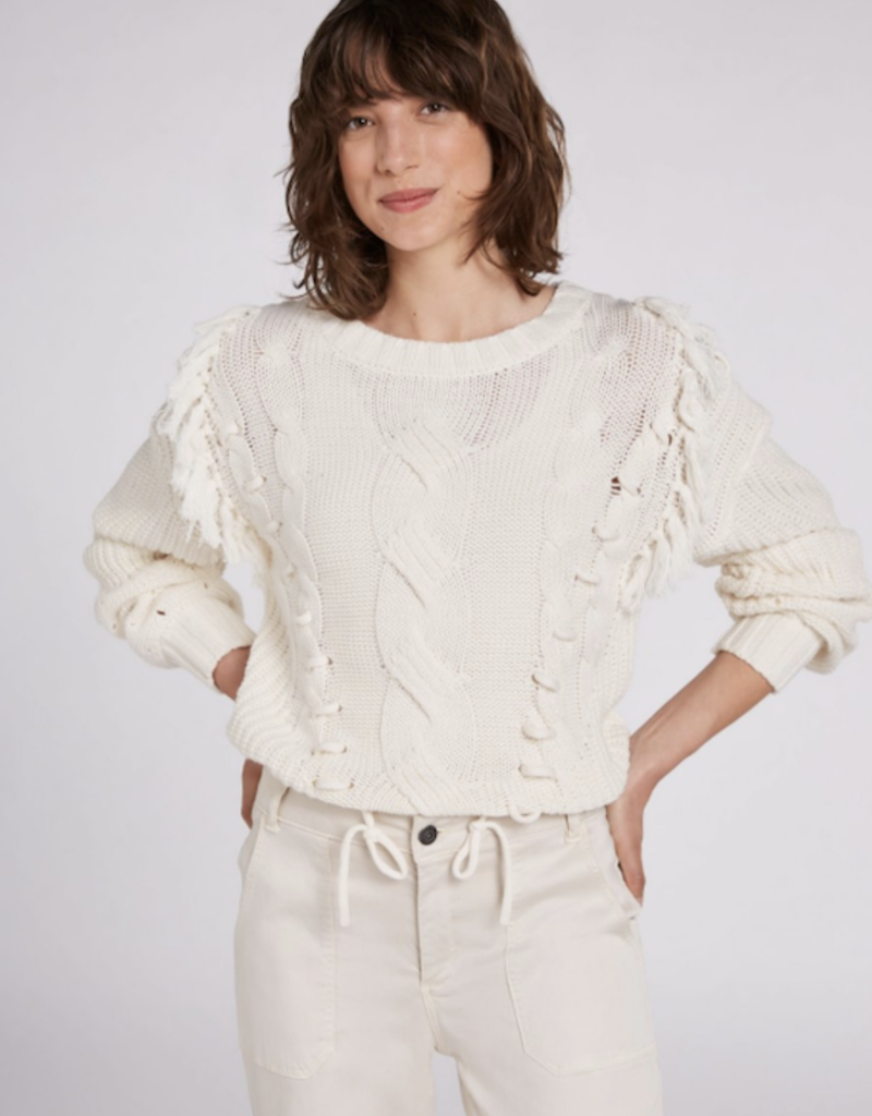 Oui Cable Crew Neck Sweater