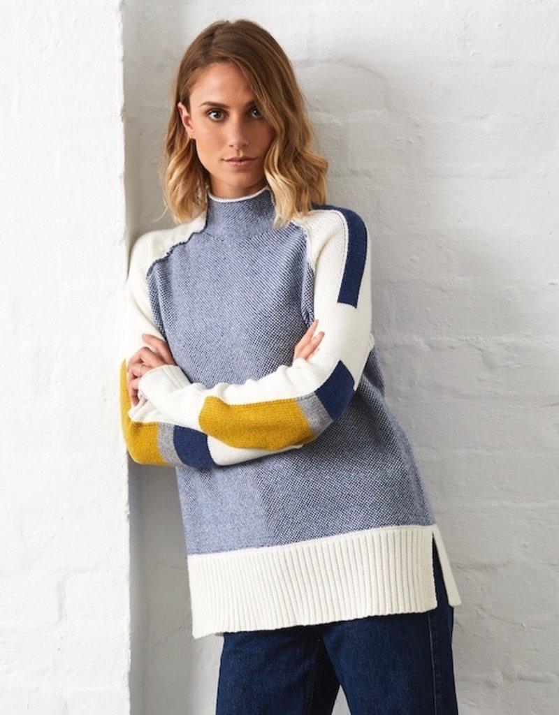 Zaket and Plover Birdseye Intarsia Sweater
