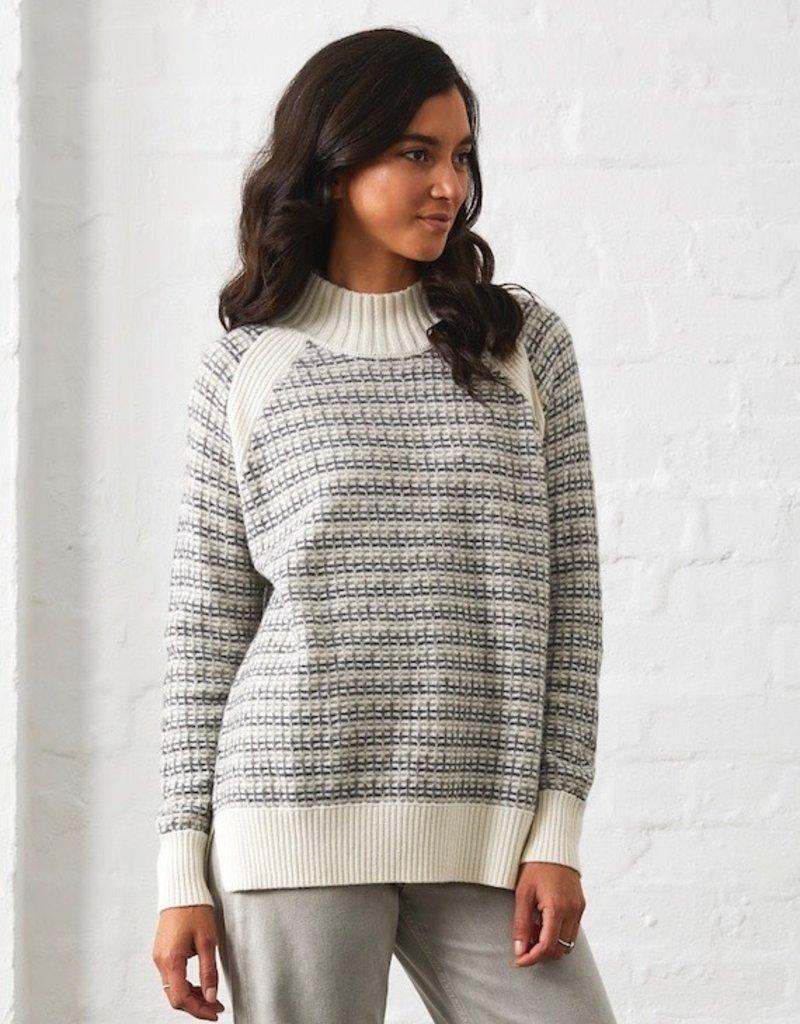Zaket and Plover Geometric Sweater