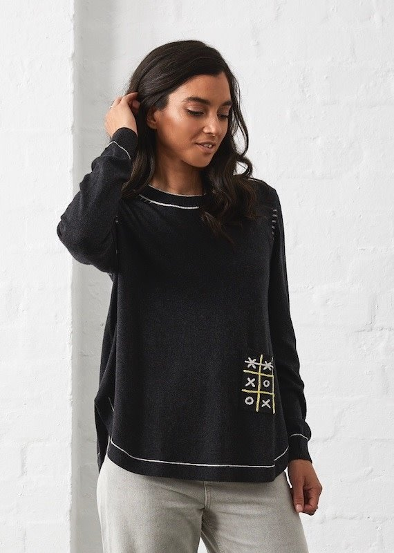 Zaket and Plover Tic Tac Toe Sweater