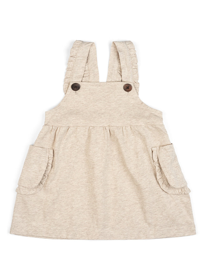 Organic Cotton Jumper Dress - Oatmeal