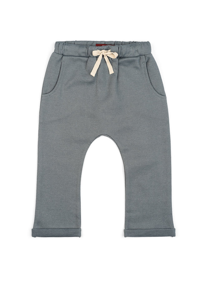 Organic Cotton Jogger - Grey Pinstripe
