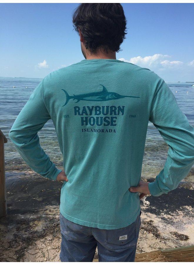 Rayburn House Men's Long Sleeve Tee - Sea Green