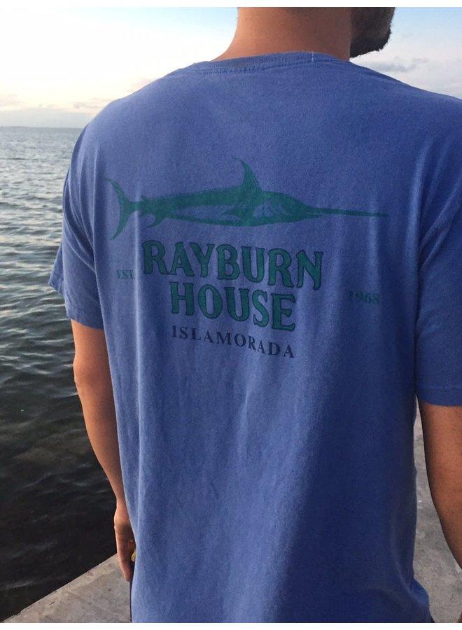 Rayburn House Men's Tee - Vintage Blue