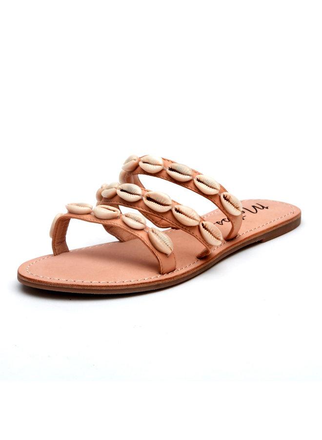 Resort Sandal w/ Cowrie Shells - Nude