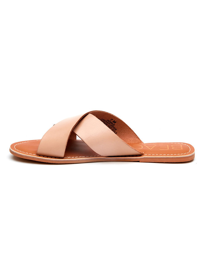 Natural Criss Cross Sandal