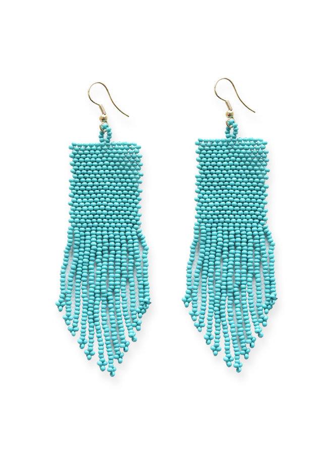 Turquoise Petite Fringe Earrings