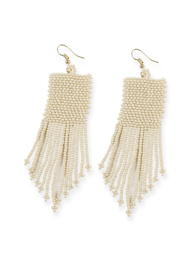 Ivory Petite Fringe Earrings