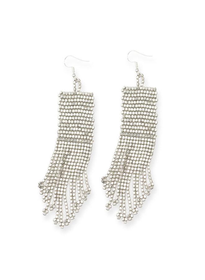Silver Petite Fringe Earrings