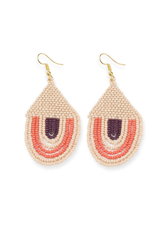 Pink Sunset Bead Earrings