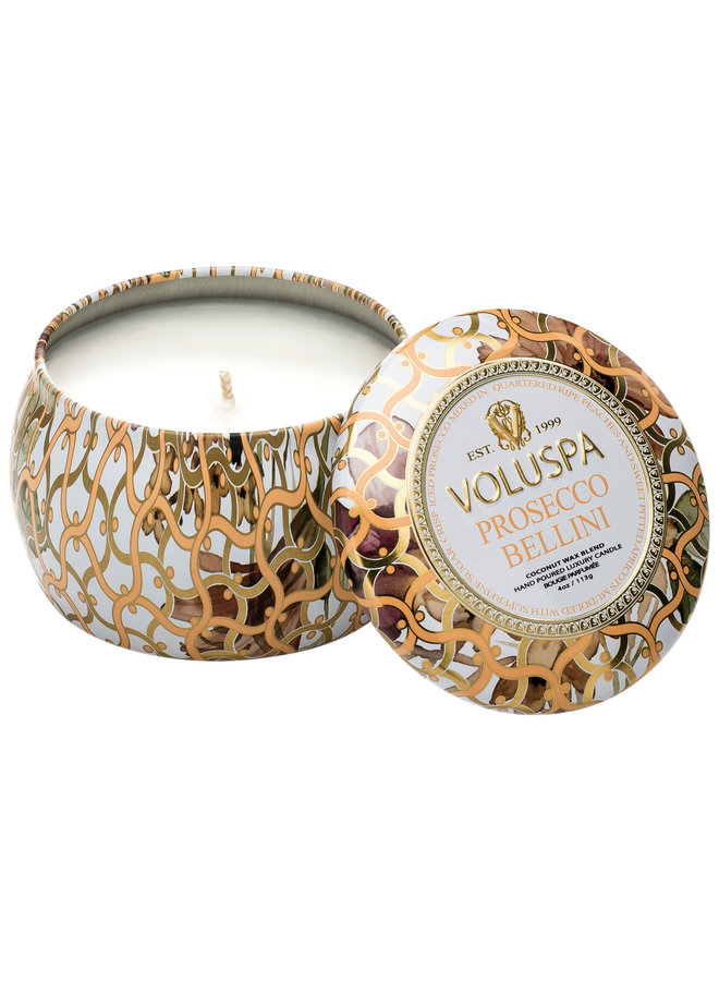 Voluspa Mini Tin 4oz Prosseco Belini 4 oz