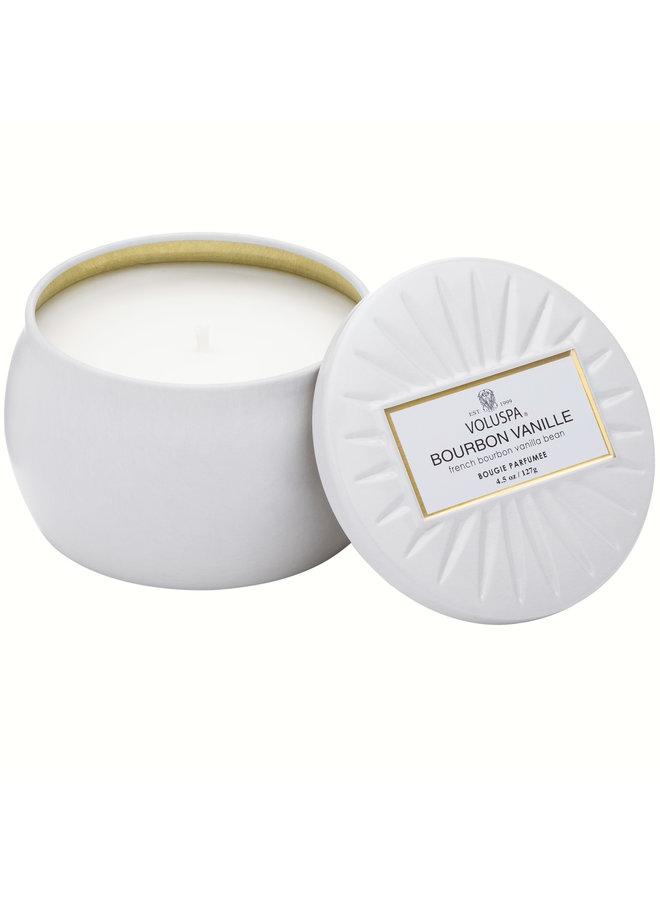 Mini Tin Candle Bourbon Vanille 4.5oz