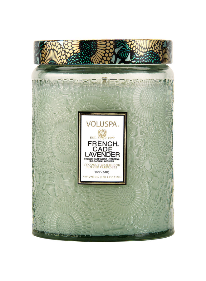 Large Glass Jar Candle, French Cade Lavender, 16oz