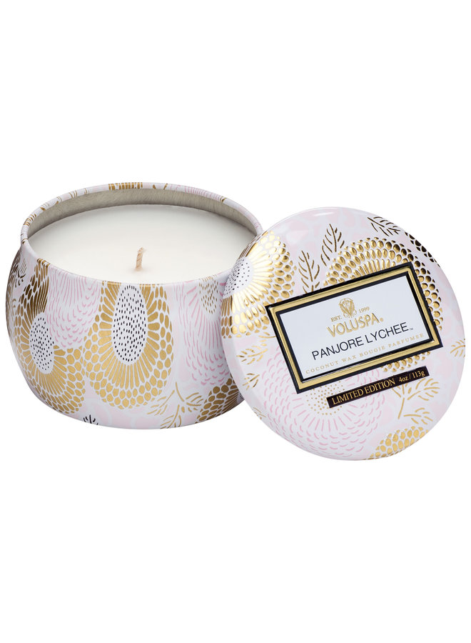 Mini Tin Candle Panjoree Lychee 4oz