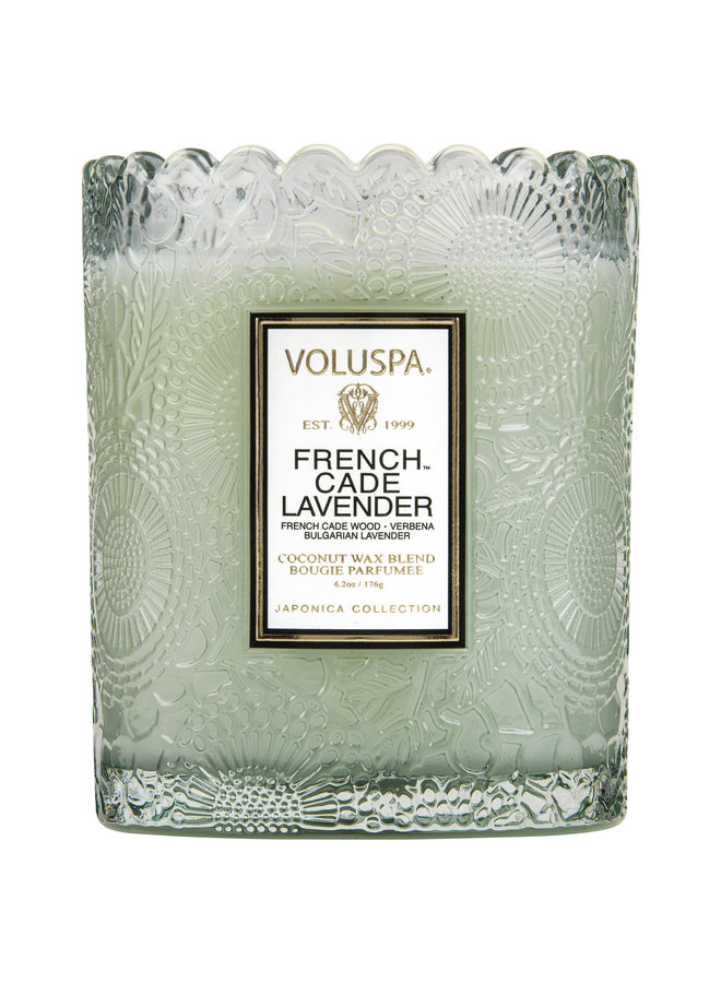Scalloped Candle Pot French Cade Lavender 9.2oz