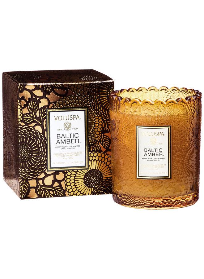 Scalloped Candle Pot Baltic Amber 9.2oz