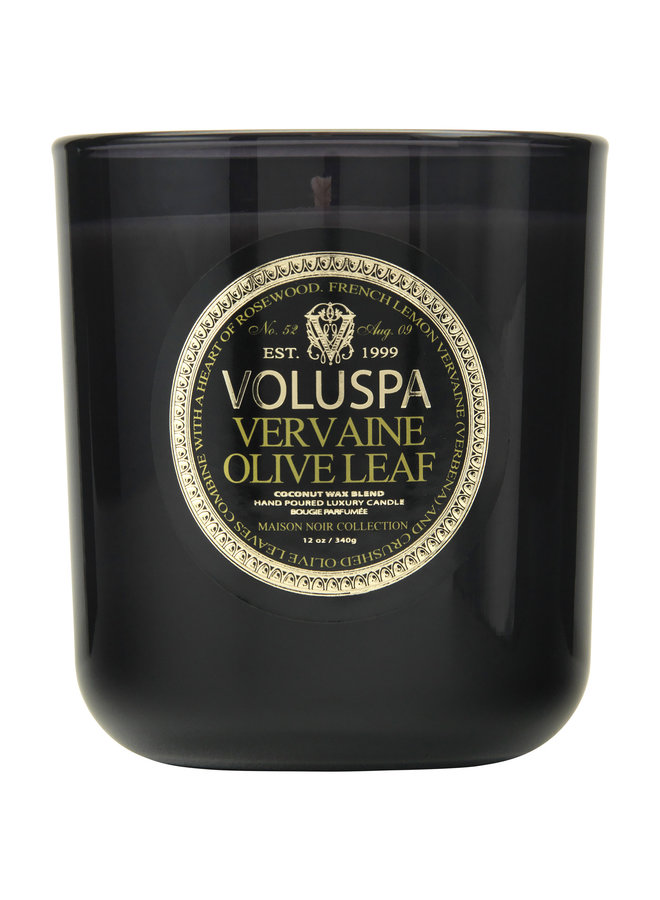 Classic Maison Glass Candle Vervaine Olive 12 oz