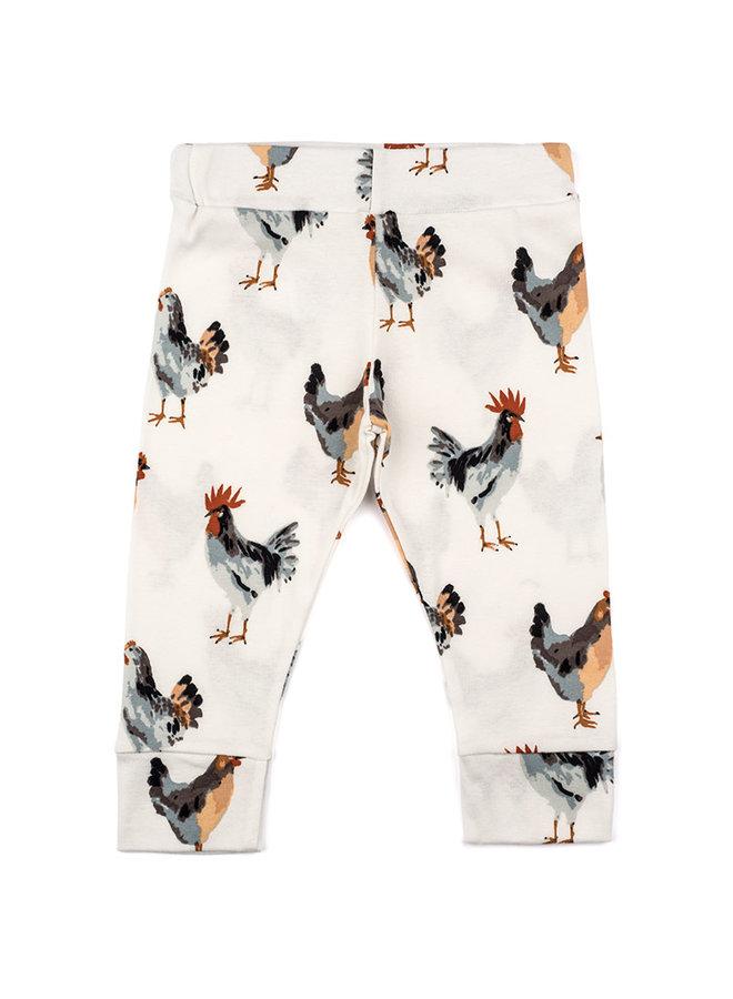 Organic Cotton Baby Leggings - Chicken
