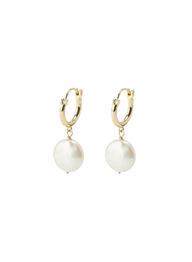 Reese Pearl Huggie Earrings Gold - by Gorjana