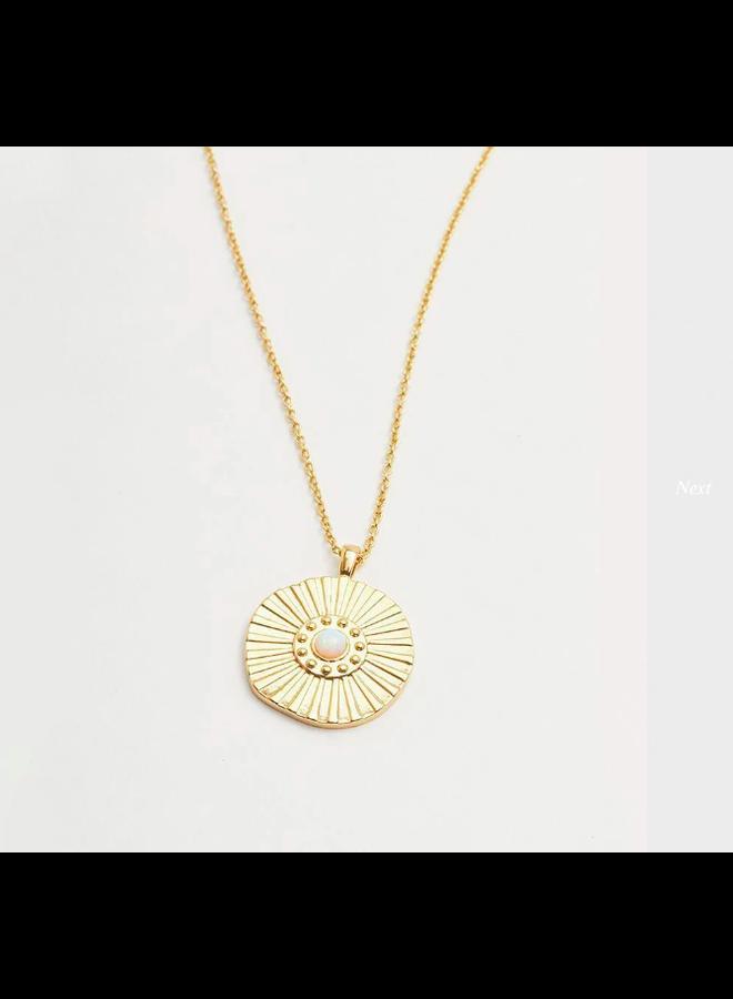 Sunburst Coin Necklace