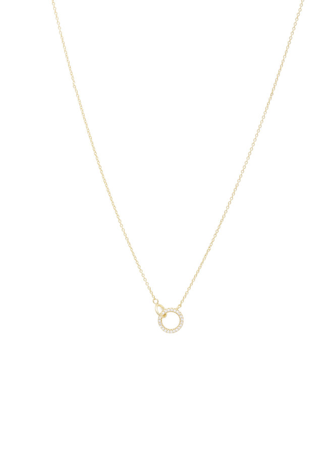 Silver Wilshire Charm Adjustable Necklace