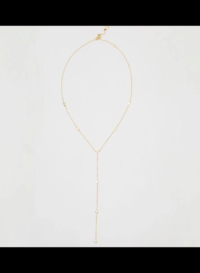 Chloe Short Lariat Necklace - Gold