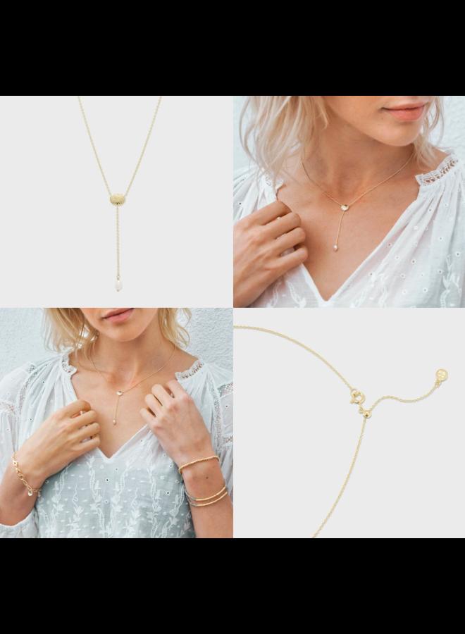 Seashell Charm Lariat Necklace - by Gorjana