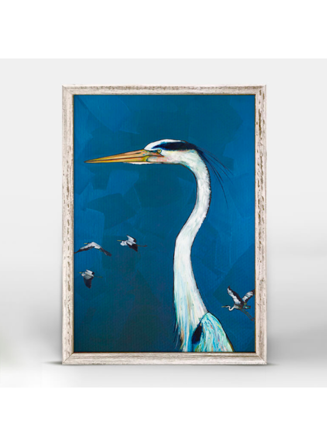 Great Blue Heron 5x7 Canvas Wall Art