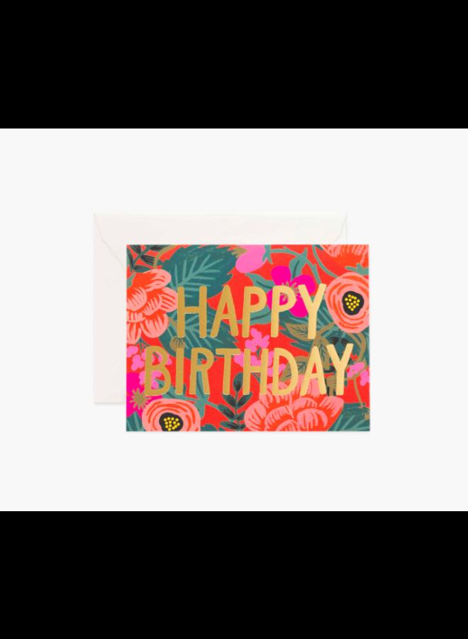 Rifle Paper Co Card - Poppy Birthday