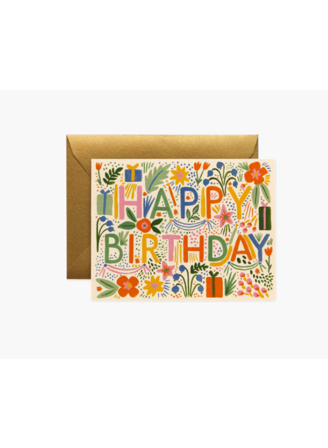 Rifle Paper Co Card - Colorful Fiesta Birthday