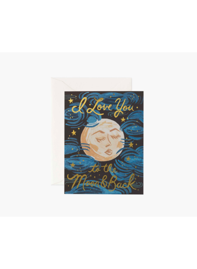 Rifle Paper Co Card - To The Moon And Back